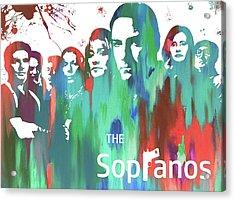 Sopranos Paint Poster Acrylic Print