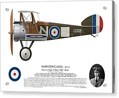 Sopwith Camel - B6313 March 1918 - Side Profile View Acrylic Print by Ed Jackson