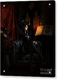 Acrylic Print featuring the digital art Sorciere by Shanina Conway
