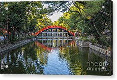 Sorihashi Bridge In Osaka Acrylic Print