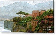 Sorrento Albergo Acrylic Print by Trevor Neal