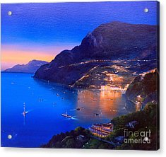 Acrylic Print featuring the painting La Dolce Vita A Sorrento by Rosario Piazza