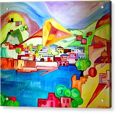 Acrylic Print featuring the painting Sorrento by Patricia Arroyo