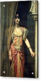 Soudja Sari Acrylic Print by Gaston Casimir Saint Pierre