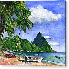 Soufriere Saint Lucia Acrylic Print