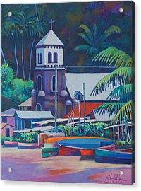 Soufriere Church Tower Acrylic Print
