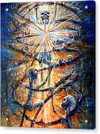 Acrylic Print featuring the painting Soul Evolution by Heather Calderon