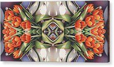 Soul Plexus - Tulips With Pearl Chakras Acrylic Print by Amy S Turner