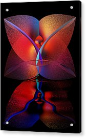 Acrylic Print featuring the digital art Soul Reflections by Shadowlea Is