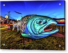 Soul Salmon During Blue Hour Acrylic Print