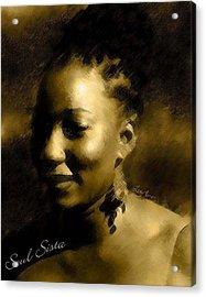 Soul Sista Acrylic Print by LeeAnn Alexander