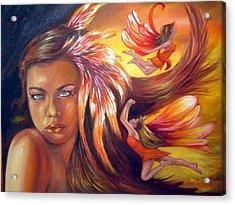 Soulfire Acrylic Print by Anne Kushnick