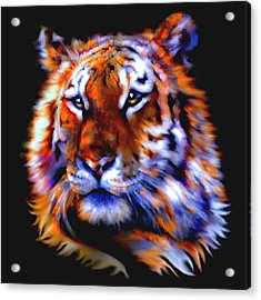 Acrylic Print featuring the painting Soulful Tiger by Elinor Mavor