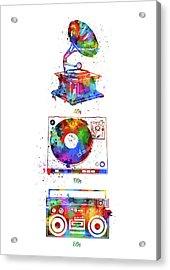 Sound Evolution Watercolor Acrylic Print