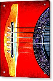 Sound Hole Acrylic Print by Peter  McIntosh