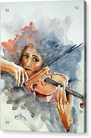 Sound Of Violin... Acrylic Print