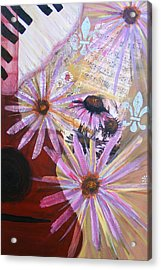 Sounds Like Flowers Acrylic Print by Christina Fajardo