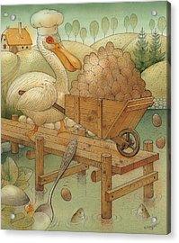 Soup In The Lake Acrylic Print by Kestutis Kasparavicius