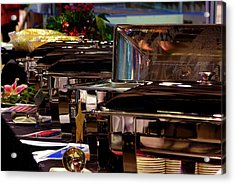 Soup's On Acrylic Print by Paul Wash