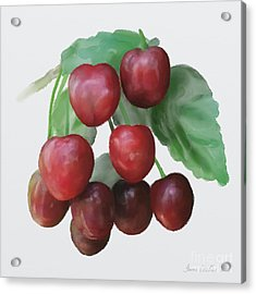 Acrylic Print featuring the painting Sour Cherry by Ivana Westin