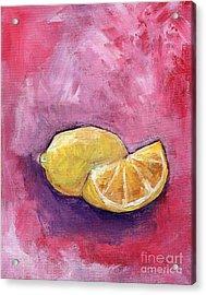 Sour Lemons Acrylic Print by Anne Seay