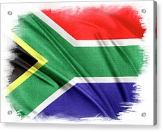 South Africa Flag Acrylic Print by Les Cunliffe