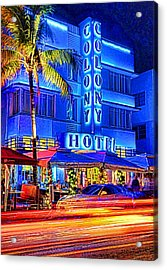 South Beach Art Deco Acrylic Print by Dennis Cox WorldViews