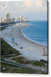 Acrylic Print featuring the photograph South Beach At Its Best by Margaret Bobb