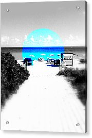 South Beach Blues Acrylic Print by Funkpix Photo Hunter