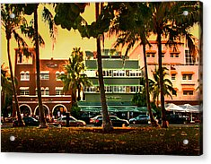 South Beach Ocean Drive Acrylic Print