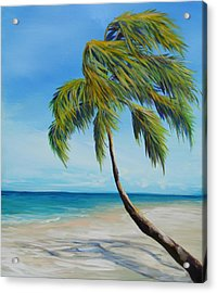 South Beach Palm Acrylic Print by Michele Hollister - for Nancy Asbell