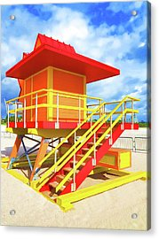 South Beach Station Acrylic Print by Dennis Cox WorldViews