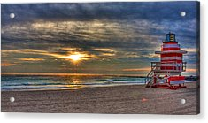 South Beach Sunrise Acrylic Print
