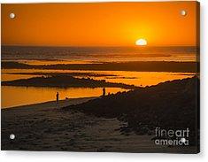 South Beach Sunset Acrylic Print