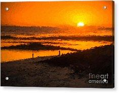 South Beach Sunset    Rvr Acrylic Print
