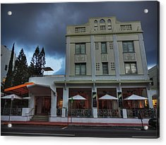 South Beach - The Stiles Hotel 001 Acrylic Print by Lance Vaughn