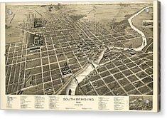 South Bend Indiana 1890 Acrylic Print