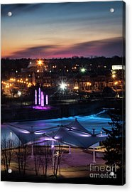 Acrylic Print featuring the photograph South Bend River Sunrise by Brian Jones