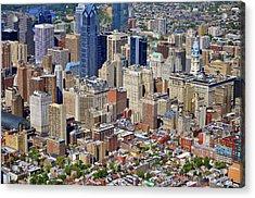 South Broad Street Philadelphia Acrylic Print by Duncan Pearson