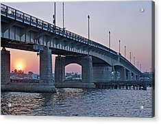 South Capitol Street Bridge Over Anacostia River In Washington Dc Acrylic Print by Brendan Reals