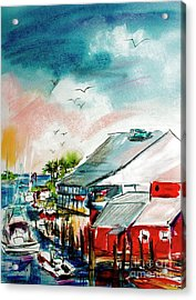 South Carolina Shem Creek Morning Acrylic Print