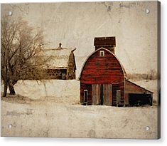 South Dakota Corn Crib Acrylic Print