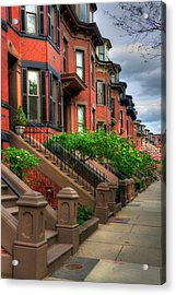 South End Row Houses - Boston Acrylic Print by Joann Vitali
