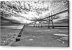 South Haven Pier Wide Angle Acrylic Print