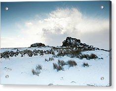 South Hessary Tor In The Snow II Acrylic Print
