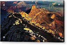 South Kaibab Trail - Grand Canyon Acrylic Print by Russ Harris