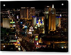 South Las Vegas Strip Acrylic Print by James Marvin Phelps