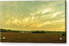 Thunder Storm Over A Pennsylvania Farm Acrylic Print