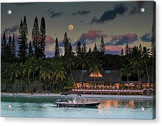 South Pacific Moonrise Acrylic Print