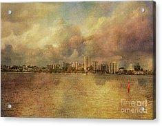 South Perth Skyline, Western Australia Acrylic Print by Elaine Teague